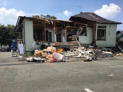 全壊した熊本東教会(1F部分が教会+牧師館)